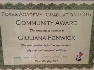 community award july 2015